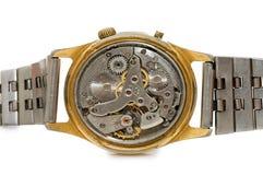 El mecanismo del reloj viejo Fotografía de archivo libre de regalías