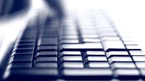 El mecanografiar en el teclado almacen de video