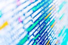El mecanografiar programado del código Avance del programa de computadora Proyecto de inicio innovador Fondo abstracto del código fotos de archivo libres de regalías