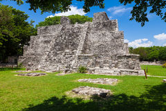 El Meco, mayan archeological site near Cancun, Mexico. View of t Stock Photo