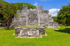 El Meco, mayan archeological site near Cancun, Mexico. View of t Royalty Free Stock Photo