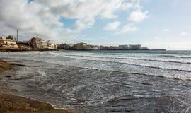 El Medano城市在大西洋 库存图片