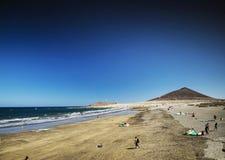 El medano beach and montana roja in south tenerife spain Stock Photo