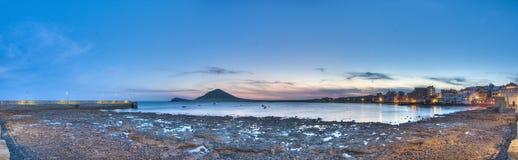 El Medano beach sunset Stock Photo
