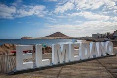 El Medano plaża Tenerife, Hiszpania Zdjęcie Stock