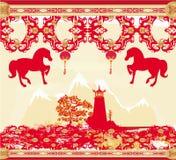 El mediados de festival chino del otoño y el Año Nuevo diseñan el elemento ilustración del vector