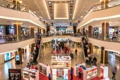 El mediados de valle Megamall es una alameda de compras situada en la mediados de ciudad del valle, Kuala Lumpur Se sienta en la  Foto de archivo libre de regalías