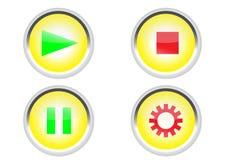 El medio abotona el icono Imagen de archivo libre de regalías