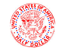 El medio dólar de los Estados Unidos libre illustration