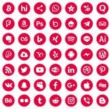 El medio social de los iconos colorea los vectores eps10 libre illustration