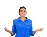 El meditar de la mujer Imagen de archivo
