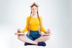 El meditar del estudiante Fotografía de archivo libre de regalías