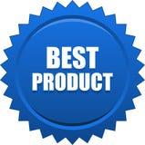 El mejor azul de la insignia del sello del sello del producto fotos de archivo libres de regalías