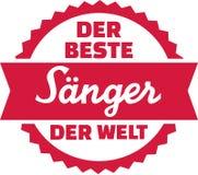 El mejor cantante en el alemán del mundo stock de ilustración