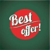 El mejor cartel de la vendimia de la oferta Fotos de archivo libres de regalías