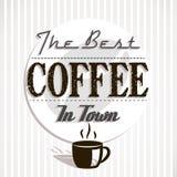 El mejor coffe en ciudad Imagen de archivo libre de regalías