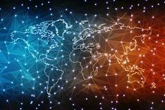 El mejor concepto de Internet de negocio global, fondo abstracto de la tecnología de Digitaces Electrónica, Wi-Fi, rayos, Interne ilustración del vector