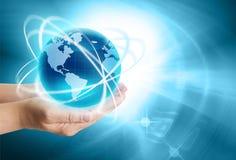 El mejor concepto del Internet de asunto global Foto de archivo