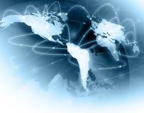 El mejor concepto del Internet de asunto global de concentrado Foto de archivo