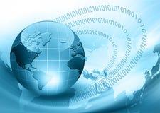 El mejor concepto del Internet de asunto global de concentrado stock de ilustración