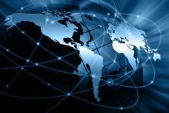 El mejor concepto del Internet de asunto global de la serie de los conceptos Foto de archivo