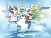 El mejor concepto del Internet de asunto global de la serie de los conceptos Imágenes de archivo libres de regalías