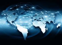 El mejor concepto del Internet de asunto global de la serie de los conceptos Fotografía de archivo