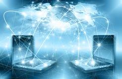 El mejor concepto del Internet de asunto global de la serie de los conceptos Imagen de archivo libre de regalías