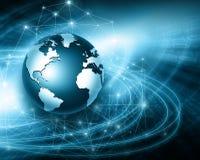 El mejor concepto del Internet de asunto global de la serie de los conceptos Imagenes de archivo