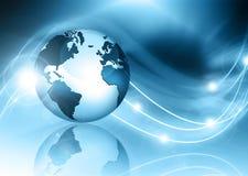 El mejor concepto del Internet de asunto global Globo Fotografía de archivo