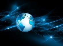 El mejor concepto del Internet de asunto global Globo Foto de archivo