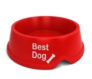 El mejor cuenco del perro Imagen de archivo