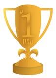 El mejor diseño de la ilustración del trofeo del papá Fotos de archivo libres de regalías