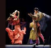 El mejor drama de la danza del flamenco   Foto de archivo libre de regalías