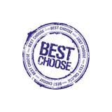 El mejor elige el sello del arranque de cinta Imágenes de archivo libres de regalías