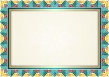 El mejor fondo colorido del certificado - plantilla Fotografía de archivo