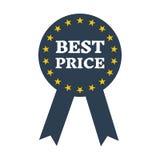 El mejor icono de la etiqueta de la garantía del precio Foto de archivo