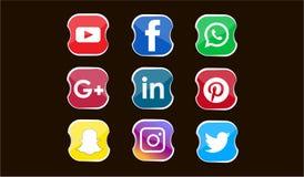 El mejor icono de medios sociales ilustración del vector