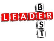 El mejor líder Crossword Foto de archivo libre de regalías