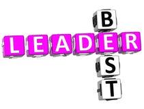 El mejor líder Crossword Fotos de archivo