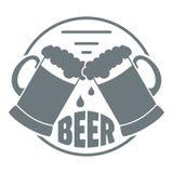 El mejor logotipo de cristal de la cerveza, estilo gris simple Foto de archivo
