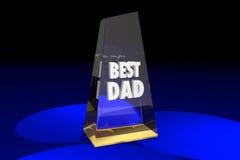 El mejor padre Parenting Award Words del papá Fotos de archivo