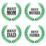 El mejor padre y la mejor madre stock de ilustración
