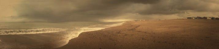 El mejor panorama de la playa de Southsea foto de archivo