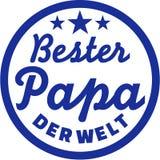 El mejor papá del alemán del mundo ilustración del vector