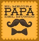 EL mejor papa del mundo - el mejor español del papá del mundo s Foto de archivo libre de regalías