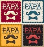 EL mejor papa del mundo - los mejores españoles del papá del mundo mandan un SMS Fotografía de archivo