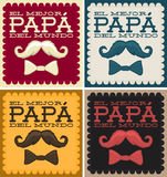 El mejor papa del mundo - World's best dad spanish text Stock Photography