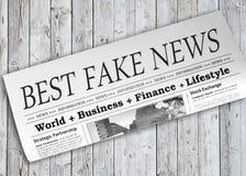 El mejor periódico falso de las noticias foto de archivo libre de regalías