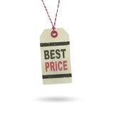 El mejor precio de la etiqueta Imagen de archivo